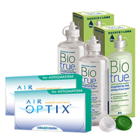 air optix astigmatism 3 x2 + biotrue 300ml x 22